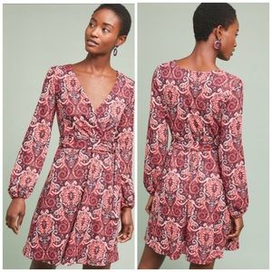 Anthropologie Maeve Paisley Belted Dress New